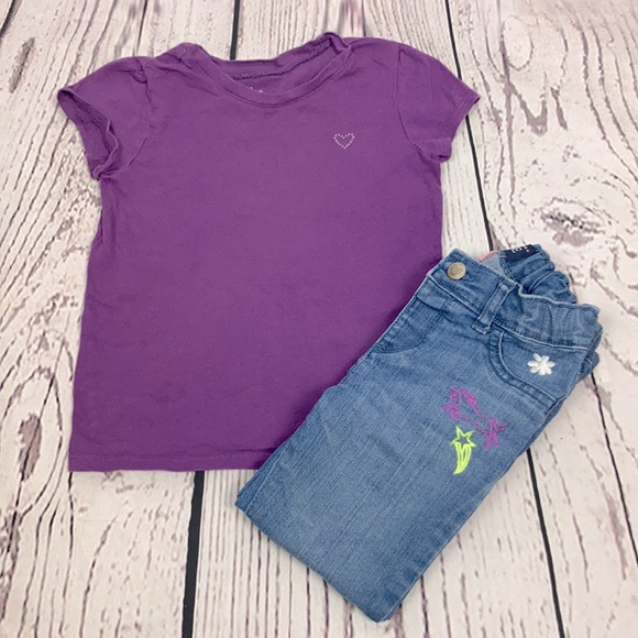The Children's Place SS T-Shirt & Jeans Outfit